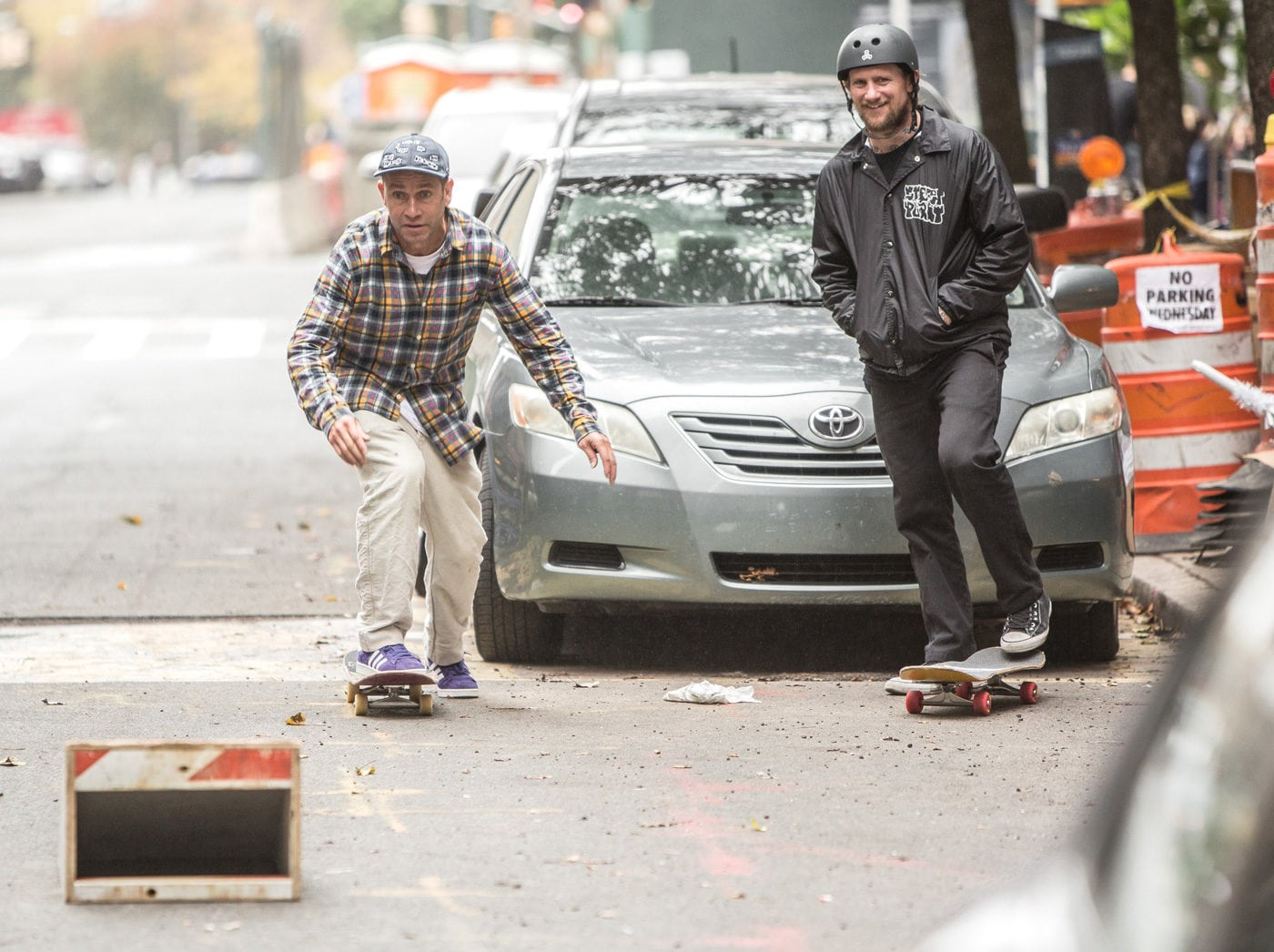 Mike Vallely & Mark Gonzales Skating in the streets of New York